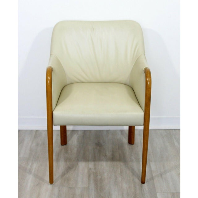 Contemporary Modern Set 8 Giorgetti Progetti Italian Wood Dining Armchairs 1990s For Sale In Detroit - Image 6 of 7
