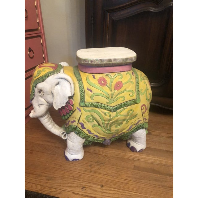 1960s Elephant Garden Stool For Sale - Image 10 of 12