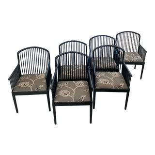 Italian Andover Black Lacquer Chairs for Stendig - Set of 4 For Sale