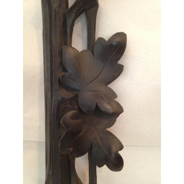 Antique Carved Black Forest Frame - Image 5 of 9