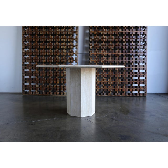 Art Deco Octagonal Travertine Centre Table, Circa 1975 For Sale - Image 3 of 7