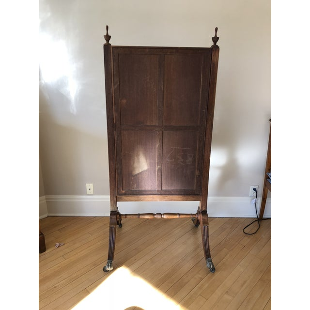Early American 1810s Federal Cheval Floor Mirror For Sale - Image 3 of 10