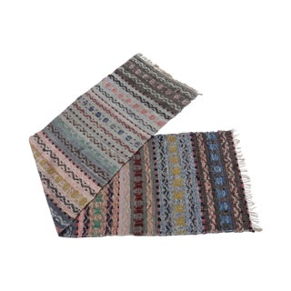 Swedish Hand Woven Rag Rug - 2′3″ × 8′8″ For Sale