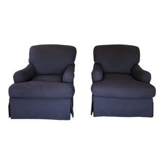 'George Smith' Style Club Chairs - a Pair