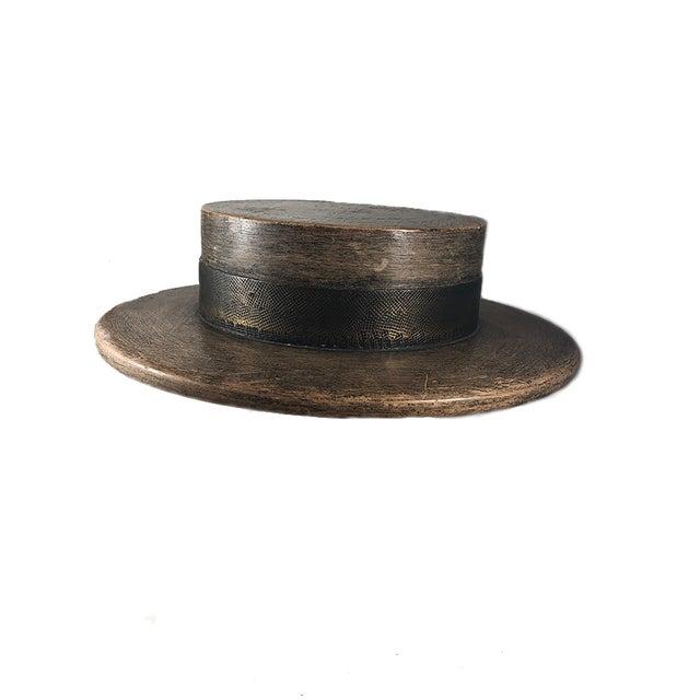 1930s Vintage Wood Hat Mold For Sale - Image 4 of 4
