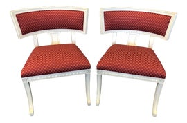 Image of Art Deco Slipper Chairs