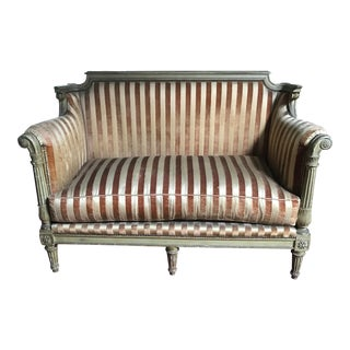 1940s Louis XVI Jansen Furniture Settee - Signed For Sale