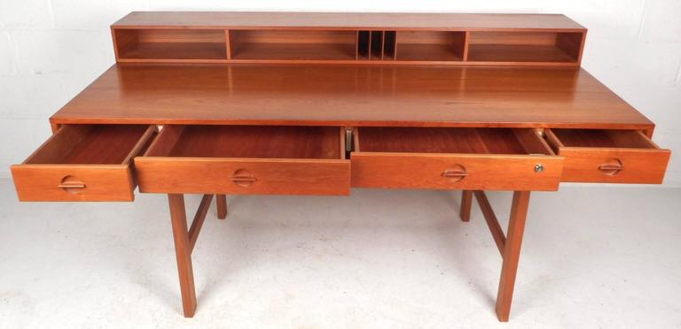 flip top desk. Beautiful Mid-Century Modern Teak Flip-Top Desk By Jens Quistgaard For Sale - Flip Top