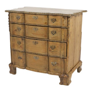 18th Century French Carved Pine Chest For Sale