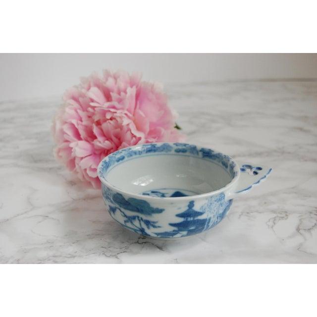 Mottahedeh Blue Canton Porringer Bowls - Set of 4 - Image 5 of 6