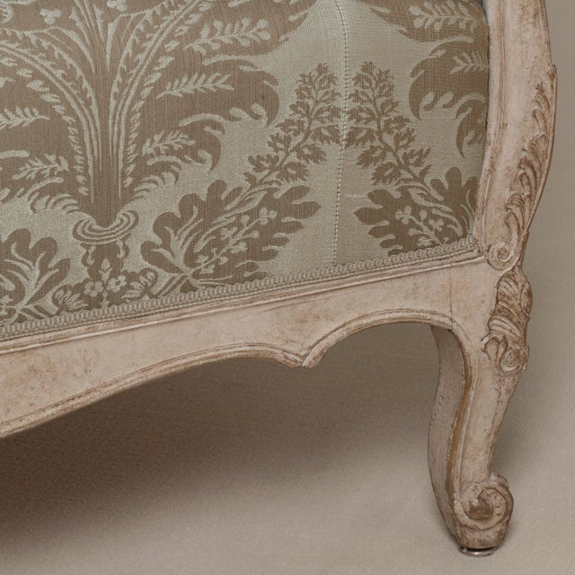 Late 19th Century A 19th Century Damask Upholstered Swedish Sofa, circa 1880 For Sale - Image 5 of 8