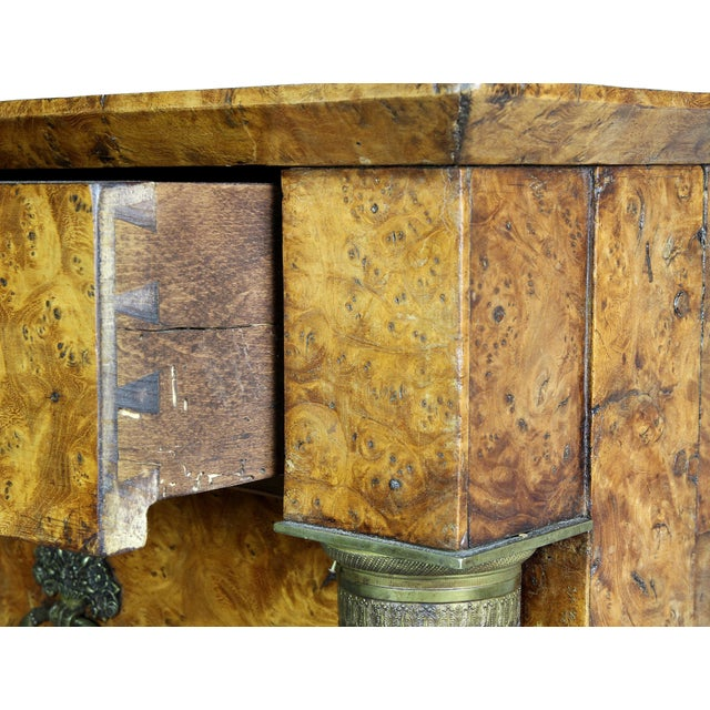 Charles X Burl Elm Commode For Sale - Image 9 of 13