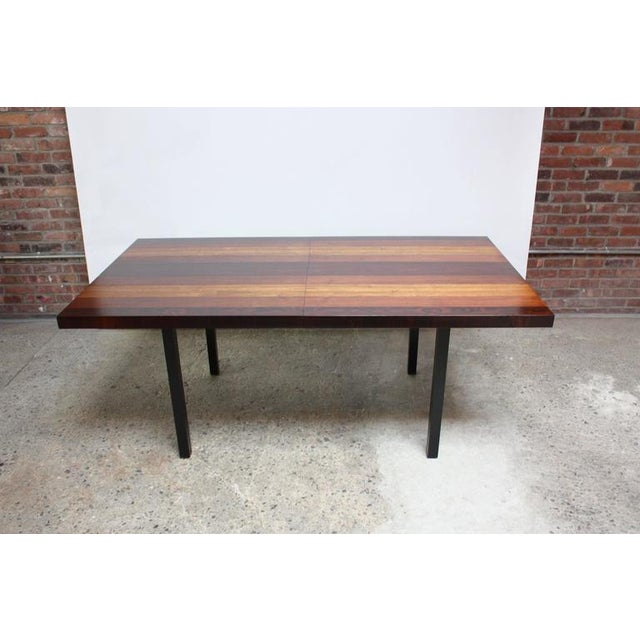 Milo Baughman Mixed Wood Dining Table For Directional - Image 7 of 11