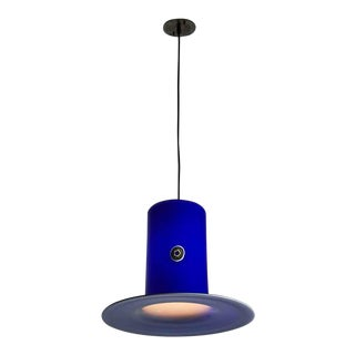"1950s Vistosi Alessandro Pianon Pendant Light - 17.5"" Wide For Sale"