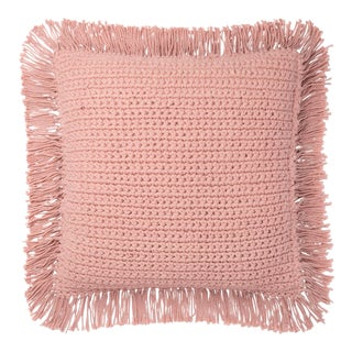 """Justina Blakeney X Loloi Pink 22"""" X 22"""" Cover with Down Pillow For Sale"""