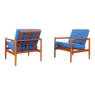Danish Modern Teak Lounge Chairs by Børge Jensen & Sønner For Sale
