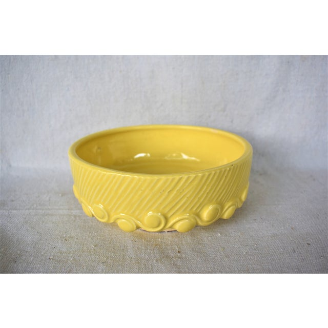 Traditional Vintage McCoy Yellow Pottery Bowl For Sale - Image 3 of 7