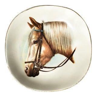 Equestrian Style Ceramic Horse Vide-Poche Decorative Dish For Sale