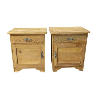Pair of Pine Pot Cupboards For Sale