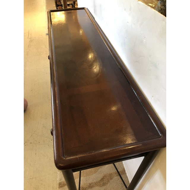 Mahogany Console Sofa Table by Grange For Sale - Image 9 of 13