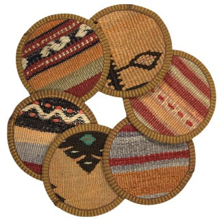 Kilim Coasters Set of 6 | Ortakazazcılar For Sale