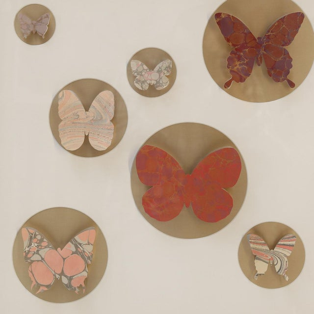 2010s Hand-Cut Paper Butterfly Box For Sale - Image 5 of 6