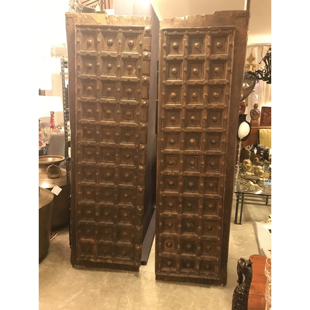 Original Antique Salvaged Hand-Made Indian Doors For Sale - Image 11 of 11