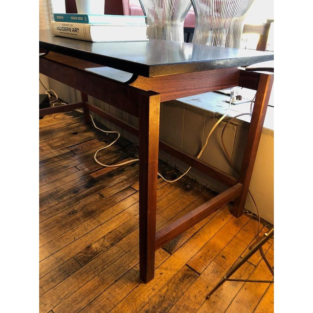 1960s Vintage Jens Risom Walnut Console Table 1960's For Sale - Image 5 of 6