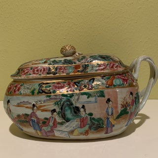 18th Century Chinese Export Rose Mandarin Covered Chamber Pot Preview