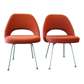 Eero Saarinen for Knoll Executive Armless Side Chairs - A Pair