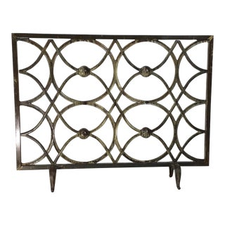 Cast Iron Fireplace Screen For Sale