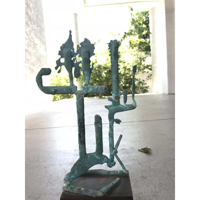 Mid Century Modern Metal Sculpture For Sale In Miami - Image 6 of 7