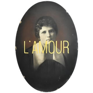 """""""L'Amour"""" Mixed Media Antique Photograph For Sale"""