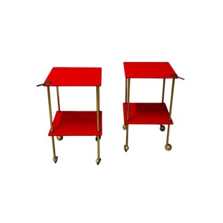 Pair of Side Tables Model T9 by Luigi Caccia Dominioni for Azucena, 1950s For Sale