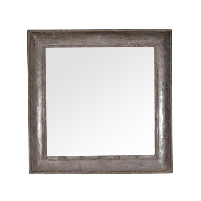 Industrial Iron Mirror Frame For Sale
