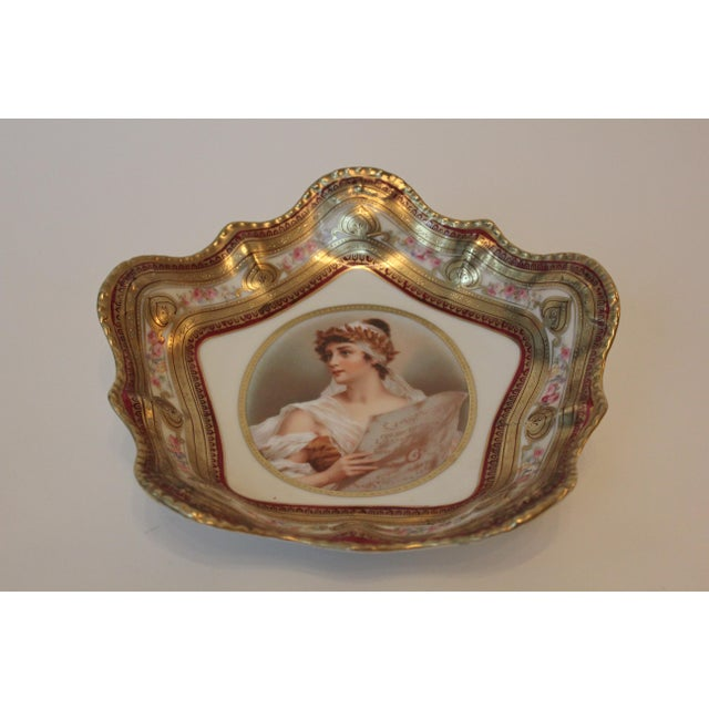 Empire Gilded Classical Muse Portrait Ornate Bowl For Sale - Image 3 of 8