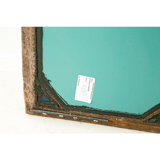Mid 19th Century Mid 19th Century Antique Cast Iron Geometric Mirror For Sale - Image 5 of 7