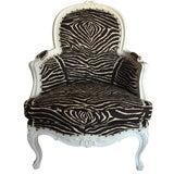 Image of Brunschwig & Fils Zebra French Regency Bergère For Sale