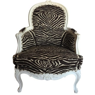 Brunschwig & Fils Zebra French Regency Bergère For Sale