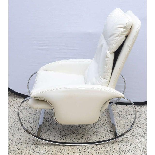 premium selection 855de 82d13 Milo Baughman Style Chrome Rocking Chair, Usa, 1970s