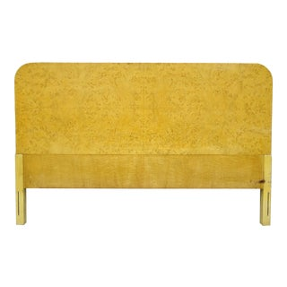 Art Deco Burlwood Birdseye Maple Full Size Bed Headboard For Sale
