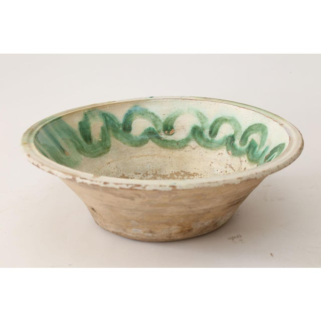 Large 18th century majolica tian (tin-glazed earthenware bowl) from Provence.