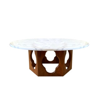 Vintage Havey Probber Marble Top Coffee Table For Sale