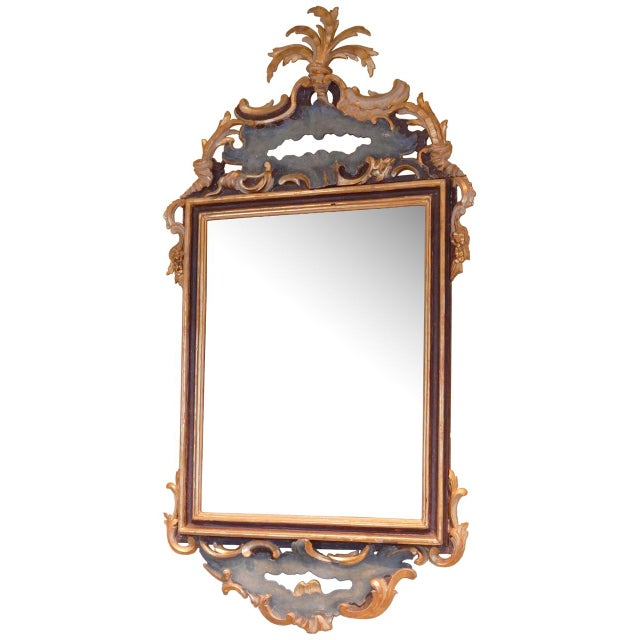 Early 19th Century Italian Rococo Painted and Gilt Mirror For Sale - Image 10 of 10