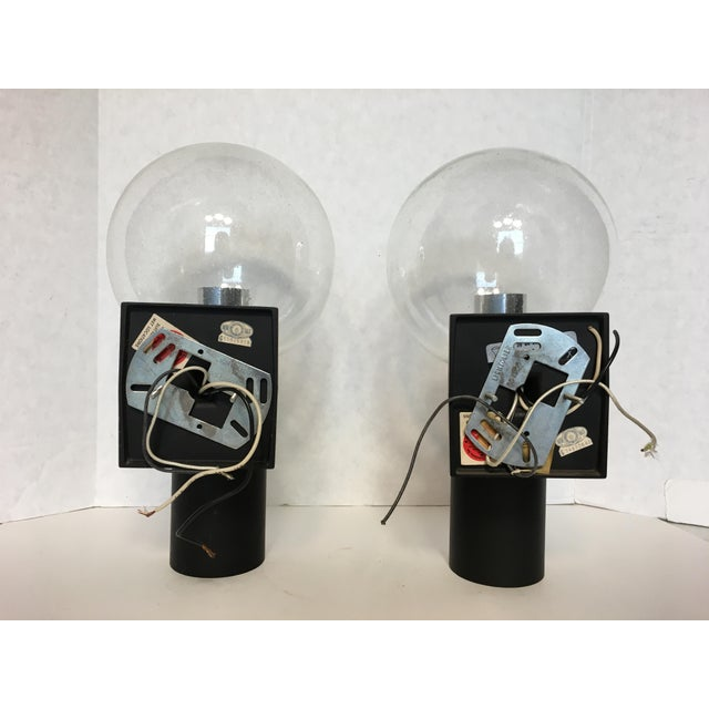 Vintage Lightolier Seed Glass Globe Double Sconces - A Pair - Image 10 of 11