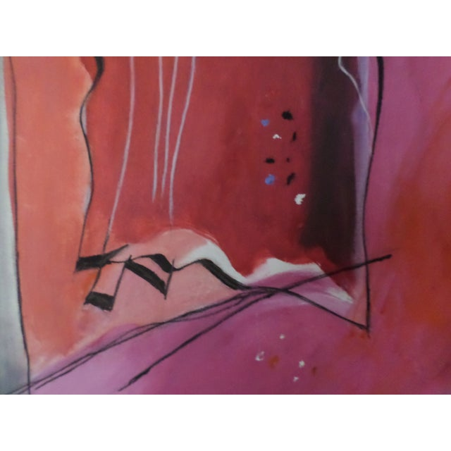 """Abstract Abstract Oil on Canvas by May Bender, """"Red Intrinsic"""" '98 For Sale - Image 3 of 13"""