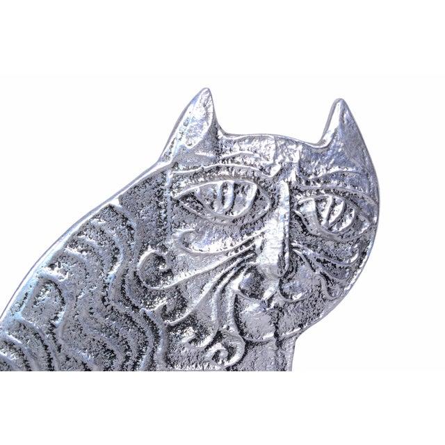Mid-Century Modern Don Drumm Cast Aluminum Cat For Sale - Image 3 of 7