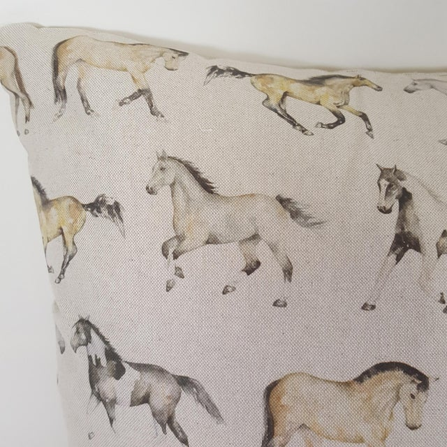 2010s Horses Accent Pillow For Sale - Image 5 of 13