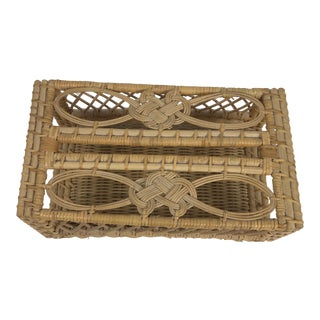Bamboo Rattan Wicker Tissue Box Cover For Sale