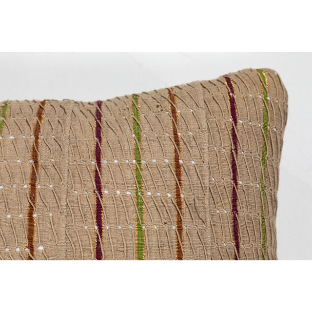 Vintage African Ashante Textile Pillow For Sale - Image 4 of 7